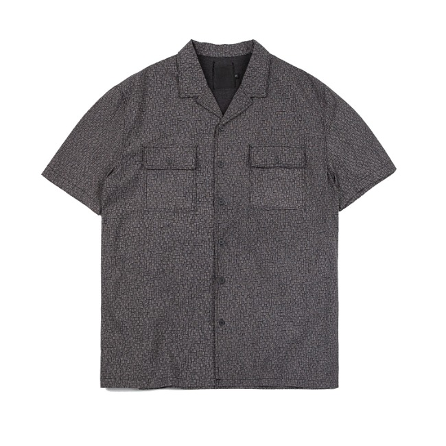 MICRO WEAVING SHIRT DARK GRAY