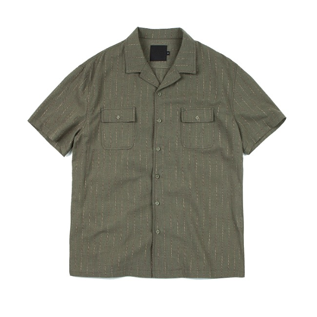 ROPETYPE STRIPE SHIRT KHAKI