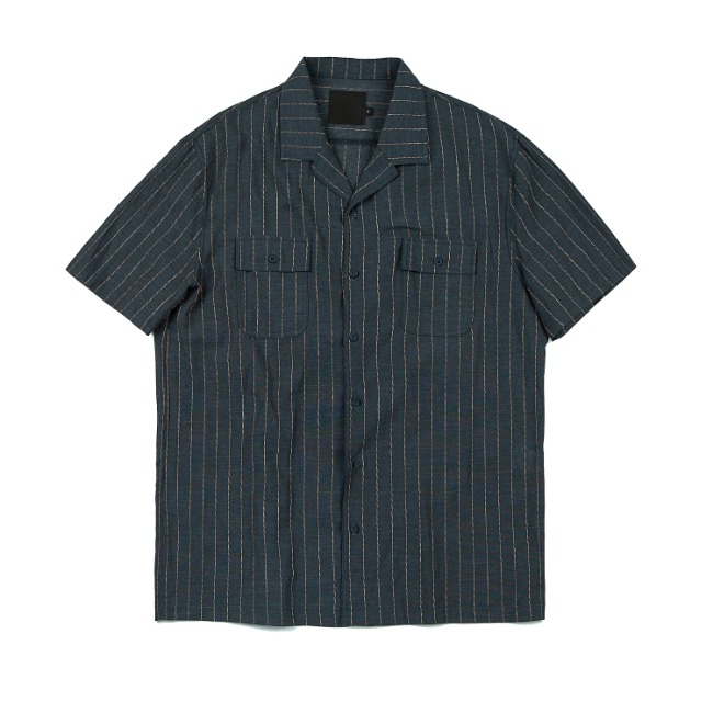 ROPETYPE STRIPE SHIRT NAVY