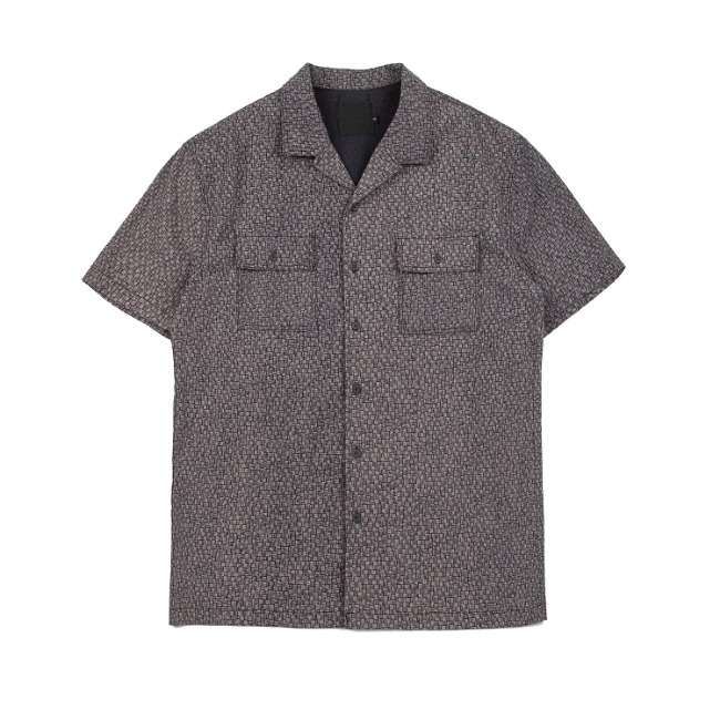 MICRO WEAVING SHIRT LIGHT GRAY