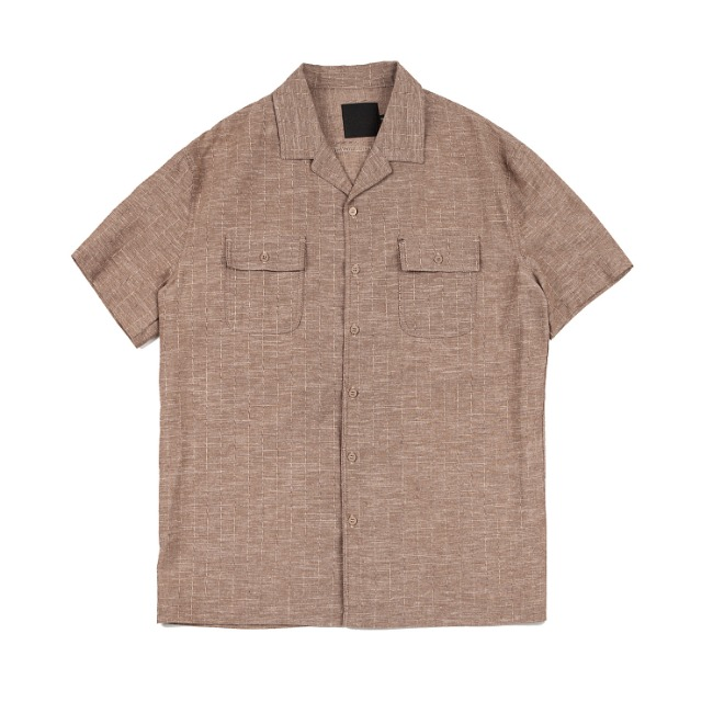 ROPETYPE STRIPE SHIRT BROWN