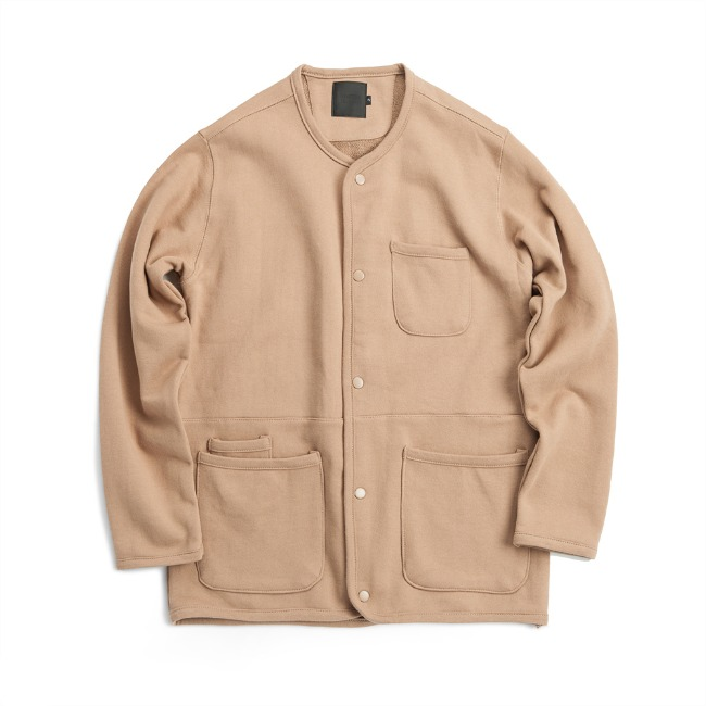FRENCH TERRY CARDIGAN BEIGE