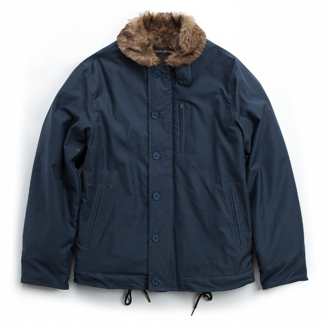 MICRO FUR DECK JACKET NAVY