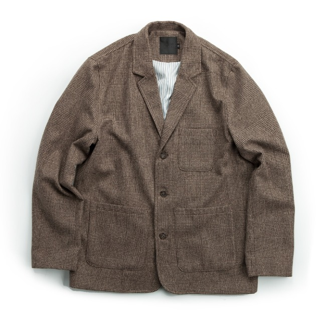 GLEN CHECK JACKET BRONZE