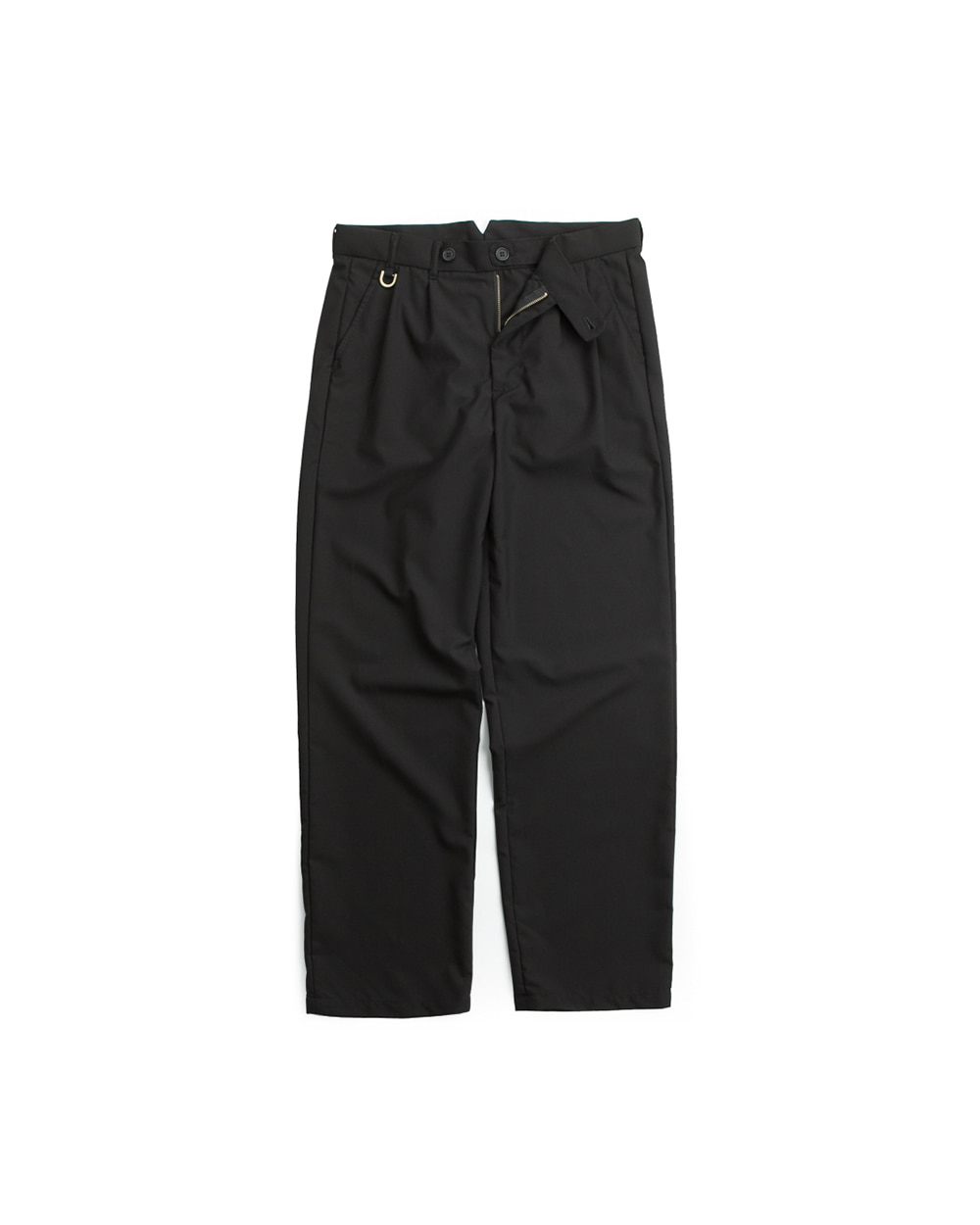 DOUBLE PLEATS TROUSER BLACK