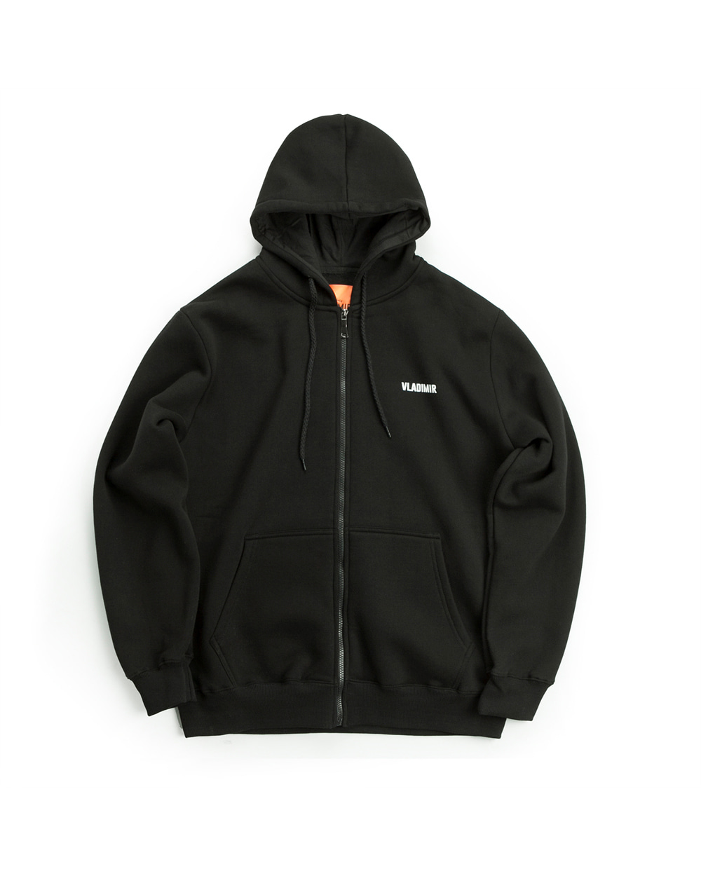 ZIP-UP HOODIE BLACK