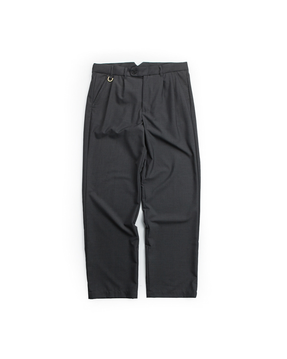 DOUBLE PLEATS TROUSER DARK GRAY