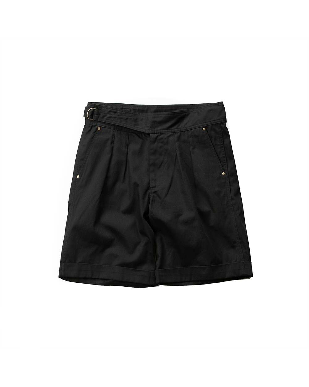 SIDEFIX HALF PANTS BLACK