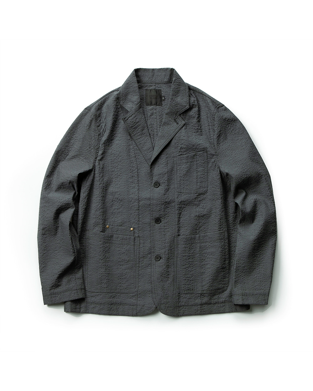 SEERSUCKER SHOOTING JACKET GRAY