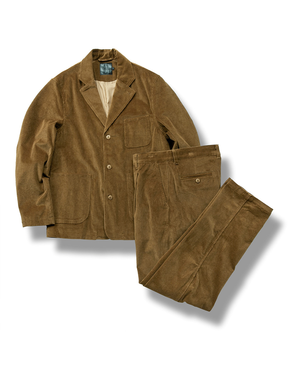 CORDUROY SET UP CHESTNUT