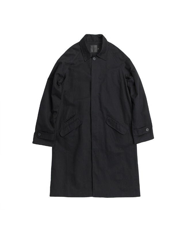 TRIPLE STITCH BALMACAAN COAT BLACK