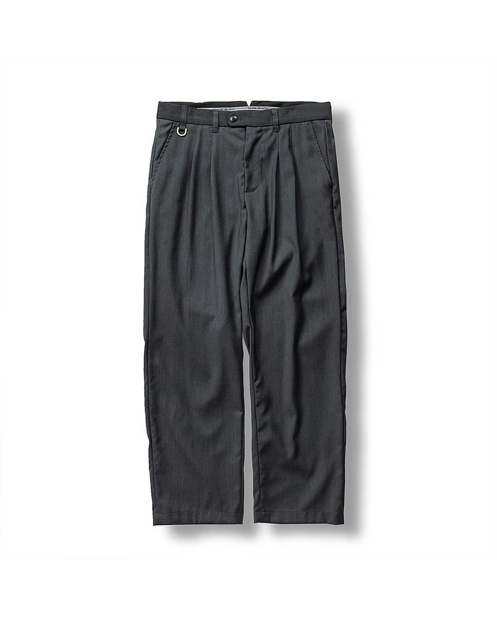 (FW) DOUBLE PLEATS TROUSER DARK GRAY