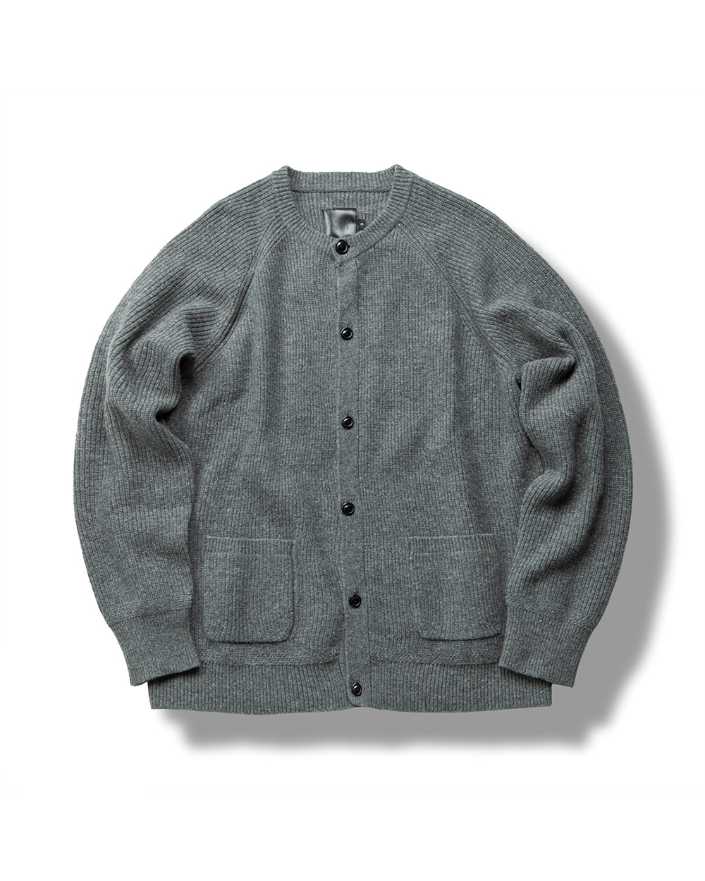 REGULAR WOOL CARDIGAN DARK GRAY