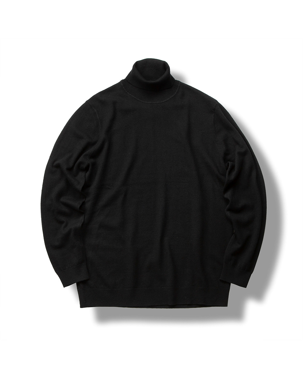 MERINO WOOL TURTLENECK SWEATER BLACK
