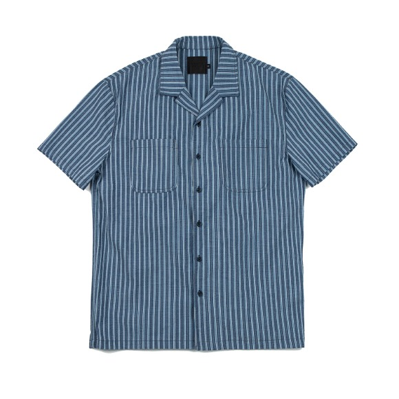 SEERSUCKER STRIPE SHIRT BLUE