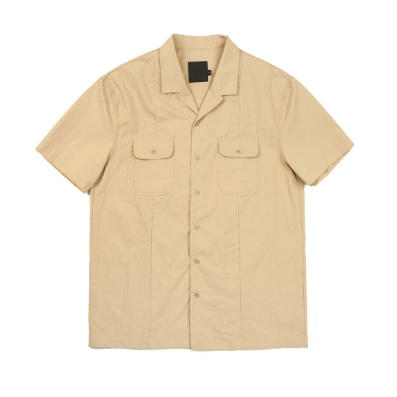 CRISPY PEN POCKET SHIRT BEIGE