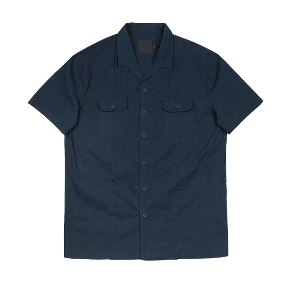 CRISPY PEN POCKET SHIRT NAVY