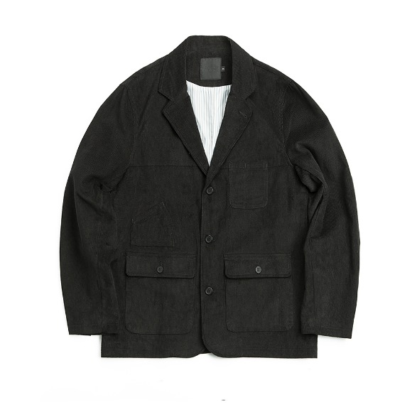 CORDUROY FATIGUE JACKET BLACK