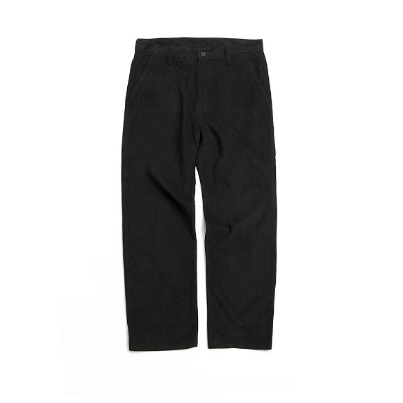 CORDUROY FATIGUE PANTS BLACK