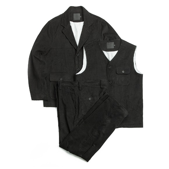 CORDUROY FATIGUE SET-UP BLACK