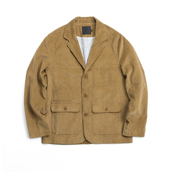 CORDUROY FATIGUE JACKET CHESTNUT