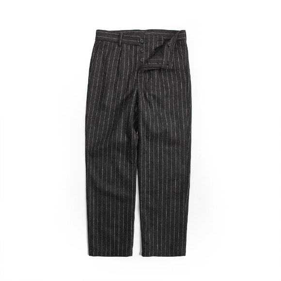 WOOL STRIPE PANTS DARK GRAY