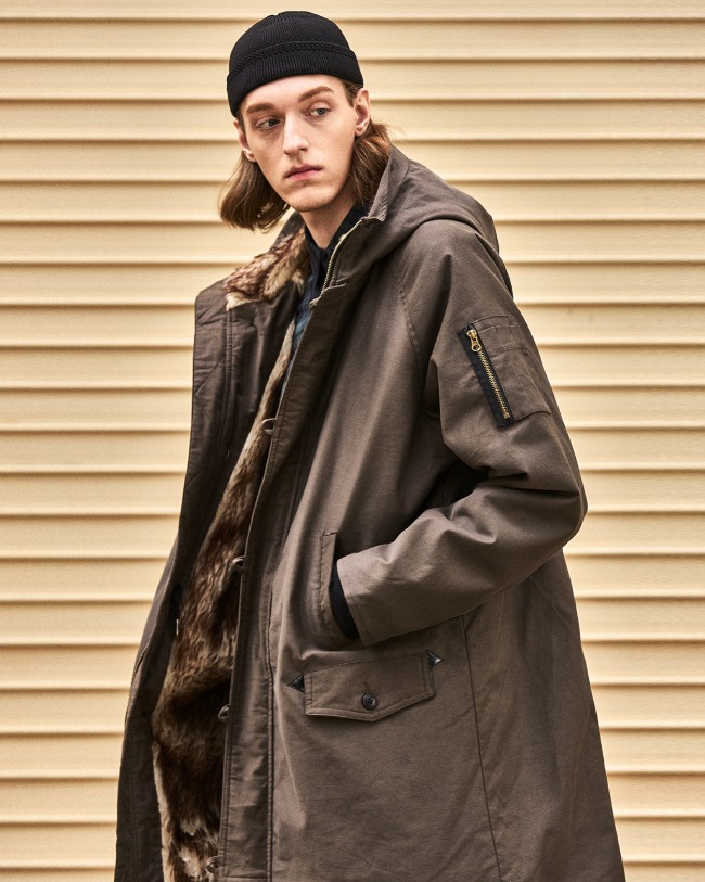 MICRO FUR N3B PARKA BROWN