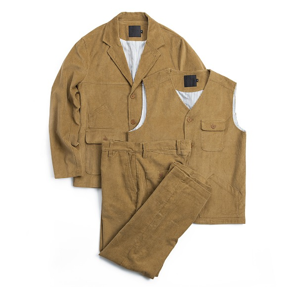 CORDUROY FATIGUE SET-UP CHESTNUT