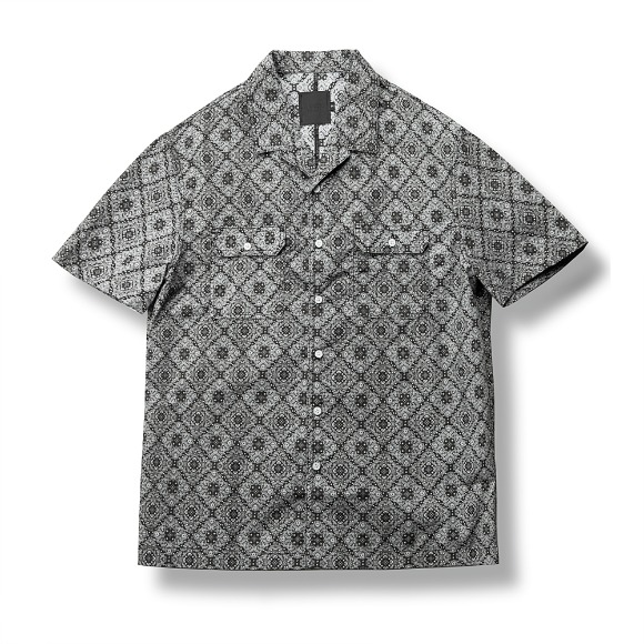 DOUBLE POCKET PAISLEY SHIRT BLACK