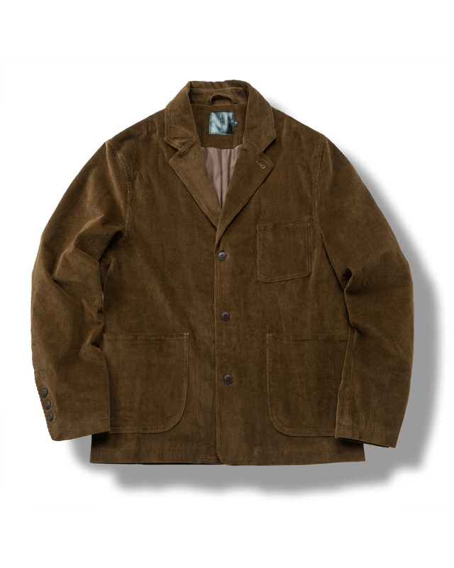 CORDUROY DAILY JACKET BROWN
