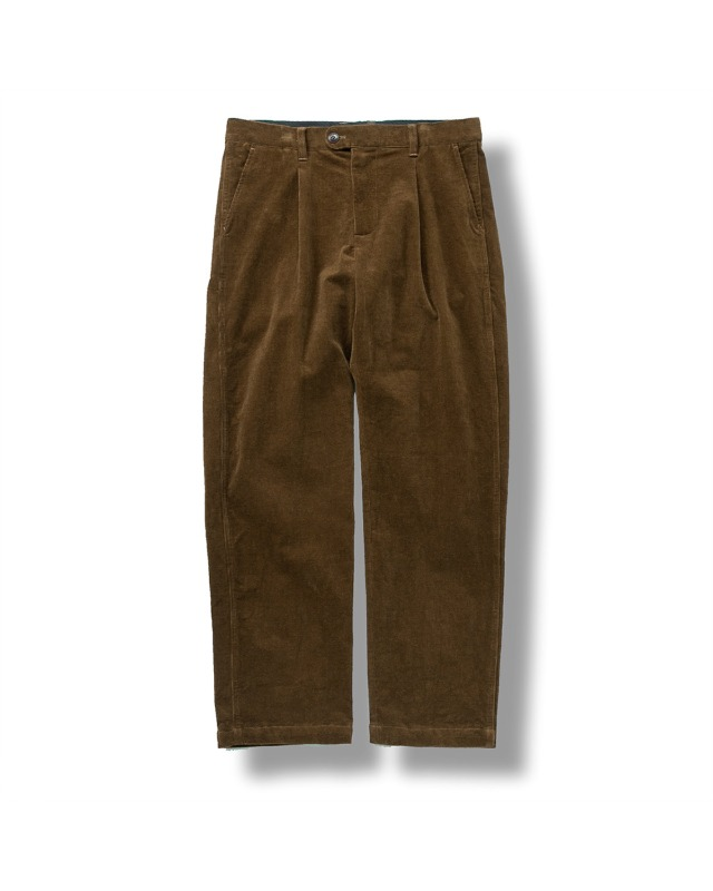 CORDUROY TAPERED PANTS BROWN