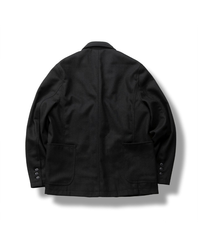 WOOL TWILL JACKET BLACK
