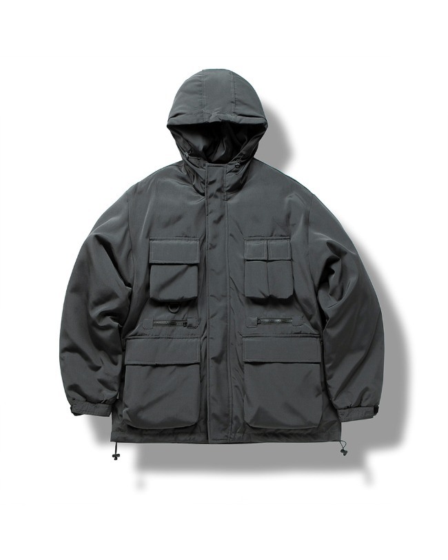 (VLADIMIR) UTILITY DOWN JACKET CHARCOAL