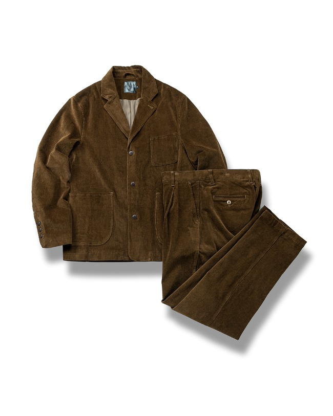 CORDUROY SET UP BROWN